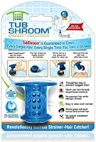 TubShroom TSBLU454 The Revolutionary Tub Drain Protector Hair Catcher/Strainer/Snare, Blue