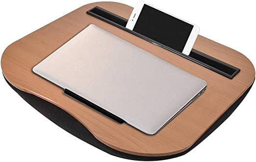 Multifunktionale Lap Desk Tragbare Laptop Tablet Bambus Computer Tisch Mit Handy Tablet Halter Und Kissen Kissen F/ür Laptop Stand Studie Arbeit