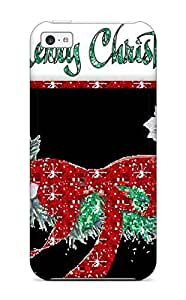 New Snap-on KPM - FRANCISCO SUQUILANDA Skin Case Cover Compatible With Iphone 5c- Merry Christmas Wreath