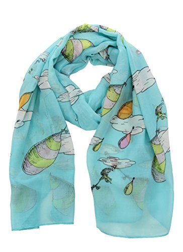 elope Oh, The Places You'll Go! Lightweight Scarf Blue -
