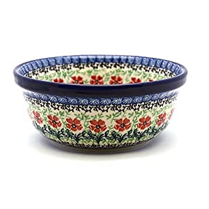 Polish Pottery Bowl – Soup and Salad – Maraschino
