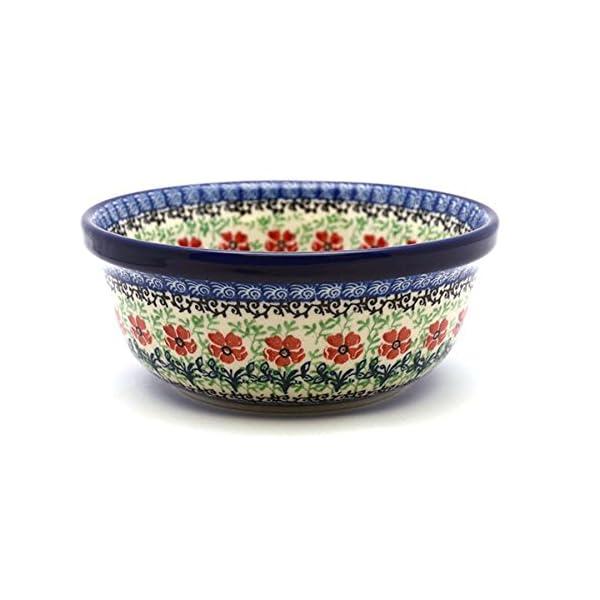 Polish Pottery Bowl – Soup and Salad – Maraschino