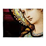 5' x 7' Area Rug Mother Mary Stained Glass