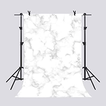 Amazon Com Mme 5x7ft White Marble Vein Tile Wall Backdrop Family