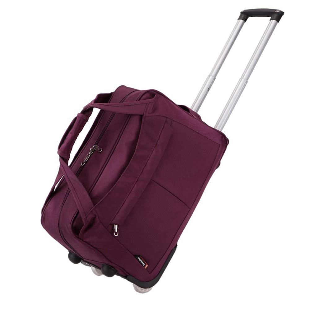 Color : Purple, Size : S Travel Bags Business Trip Short Term Portable Waterproof fold Trolley Case Luggage Suitcases Carry On Hand Luggage Durable Hold Tingting