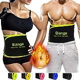 Biange Waist Trimmer Belt for Women & Men, Sweat Waist Slimmer Waist trainer