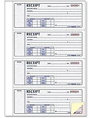 Rediform Prestige Money Receipt Books, Triplicate Carbonless, Hardcover, 200 Sets per Book (8L818)
