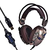Kingbig 7.1 Surround Sound Gaming Headset with Vibration and LED MIC Professional USB Headphone for PC(Bronze) Review