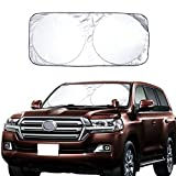 #6: Car Windshield Sun Shade Excellent UV Reflector, Keeping You Cooler With A Pristine Interior, Block Out 99% UV Rays Heat Car SunShade Keep Automobile Cool Easy to use (63x33.8 Inches)