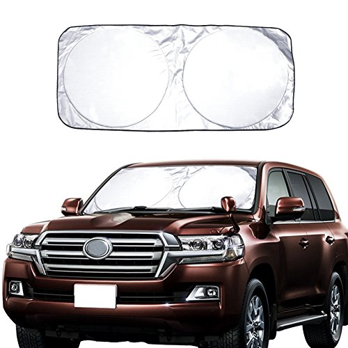 Car Windshield Sun Shade Excellent UV Reflector, Keeping You Cooler With A Pristine Interior, Block Out 99% UV...