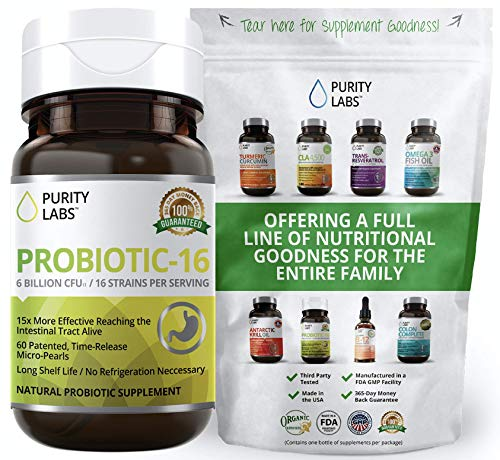 Probiotics for Women & Men | 15X More Effective Than Capsules | Equivalent to 90 Billion CFU | 16 Highly Targeted Strains | 60 Time Release Pearls | Daily Prebiotic for Digestive Health | Shelf Stable