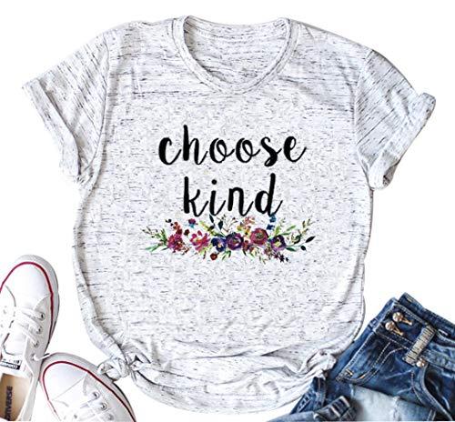 Be Kind Shirt Women Tshirt Casual Short Sleeve Summer Tops Christian T-Shirt Blouse Tee Tops (Small, White) ()