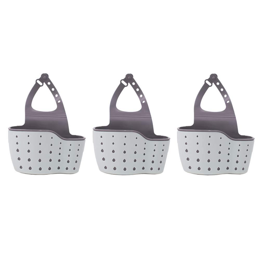 Drain Rack Sponge Soap Sink Shelf Bathroom Holder Kitchen Storage Tool (3pcs) YONG-SHENG