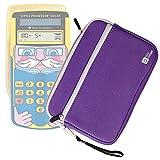 "Purple 7"" Water & Scratch-Resistant Neoprene Case for Texas Instruments Little Professor Solar Graphics Calculator - by DURAGADGET"