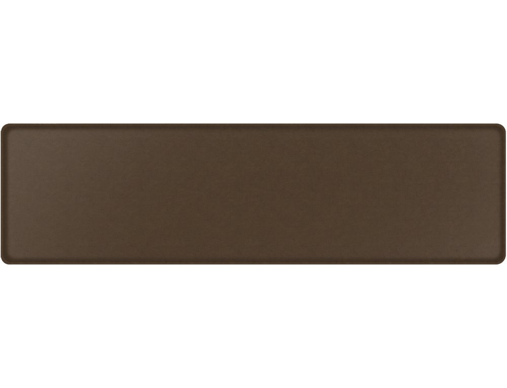"GelPro Classic Anti-Fatigue Kitchen Comfort Chef Floor Mat, 20x72"", Vintage Leather Rustic Brown Stain Resistant Surface with ½"" gel core for health & wellness"