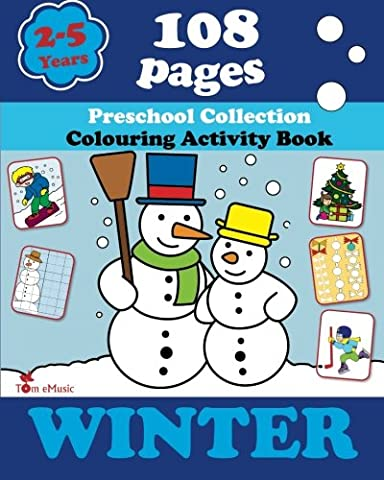 Winter: Coloring and Activity Book with Puzzles, Brain Games, Mazes, Dot-to-Dot & More for 2-5 Years Old Kids (Coloring Activity Book) (Volume - Winter Stars