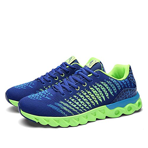 Gimnasio Zapatos Running Mujer Sneakers para Deporte Transpirables Deportivas Casual Unisex Hombres Azul AUawXqX