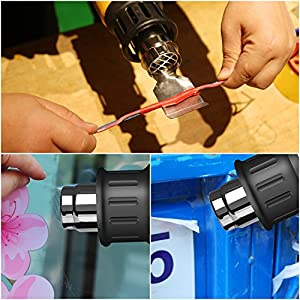 SEEKONE Heat Gun Heave Duty Hot Air Gun 1800W with 2-Temperature Settings 4 Nozzle Attachments 122?~ 1202?(50?- 650?)for Stripping Paint,Bending Pipes, Lighting BBQ