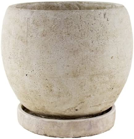 SYNDICATE HOME GARDEN 7912-04-901 Slate Round Planter, 5-3 4-Inch