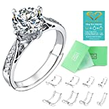 Invisible Ring Size Adjuster for Loose Rings Ring Adjuster Fit Womens Mens Ring Sizer (8 PCS)