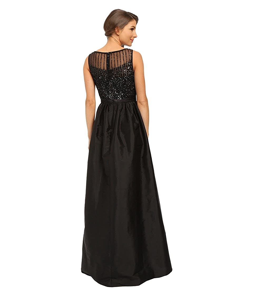 3c99a3e87f6 Adrianna Papell Women s Sleeveless Beaded Bodice Taffeta Ball Gown Black  Dress  Amazon.ca  Clothing   Accessories
