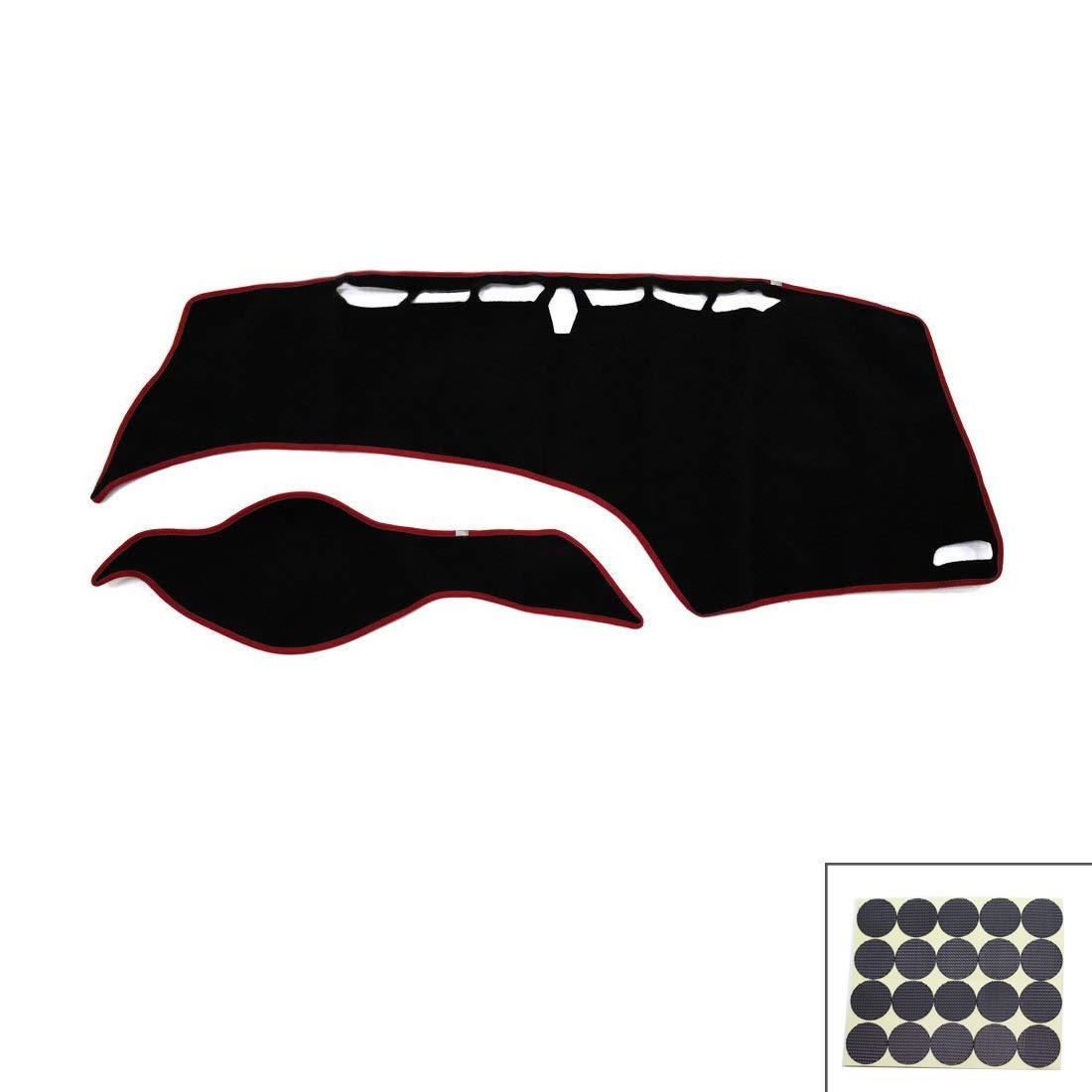 Autoly Black Dashboard Cover Shield Sun Carpet Pad Custom for 2012-2015 9th Gen Honda Civic