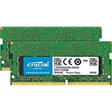 Crucial 32GB Kit (16GBx2) DDR4 2400 MT/S (PC4-19200) DR x8 SODIMM 260-Pin for Mac-CT2K16G4S24AM