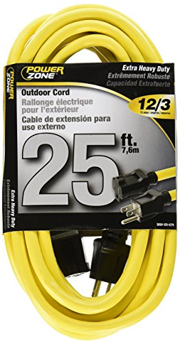 Cord Yel Ext 12/3 (Cord Ext Outdoor 12/3x25ft Yel)