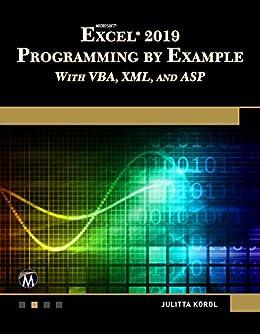 Amazon com: Microsoft Excel 2019 Programming by Example
