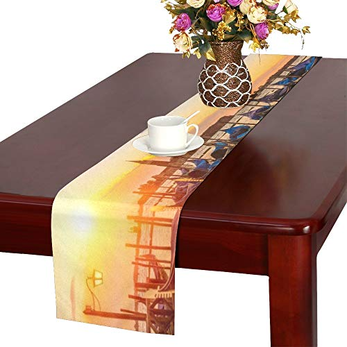 Sunrise San Marco Square Venice Italy Table Runner, Kitchen Dining Table Runner 16 X 72 Inch for Dinner Parties, Events, Decor -