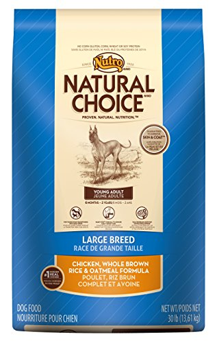 NATURAL CHOICE Young Adult Large Breed Chicken, Whole Brown Rice and Oatmeal Formula, 30 lbs.