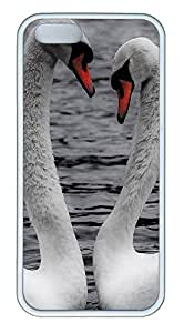 iPhone 5 5S Case Animals Hearts And Love TPU Custom iPhone 5 5S Case Cover White