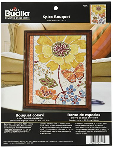 Bucilla Counted Cross Stitch Kit, 8 by 10-Inch, 45817 Spiced
