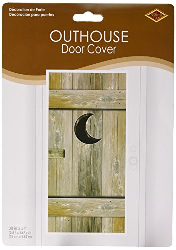 Western Party Decorations (Outhouse Door Cover Party Accessory (1 count) (1/Pkg))