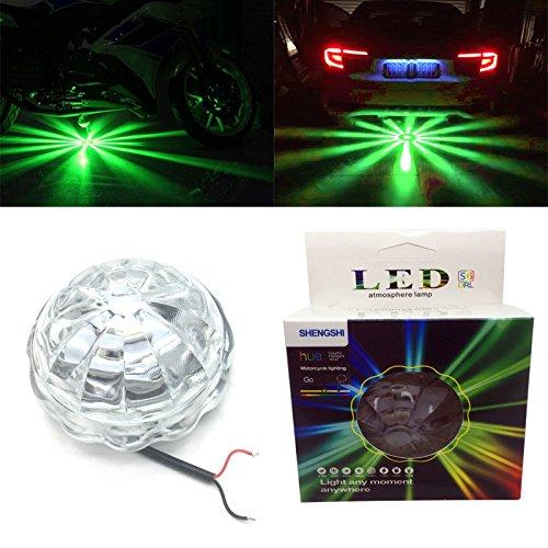 Car Motorcycle Muliti-color RGB LED Light Chassis Atmosphere Lamp DC 12V LED Underdash Lighting Kit (Green) (Chassis Lighting)