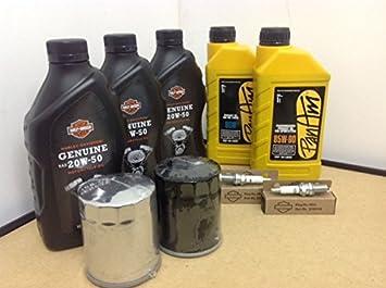 Kit de material de mantenimiento - Aceite de Motor Original, Aceite Primario, Aceite de Transmisión, 2 bujías, ...