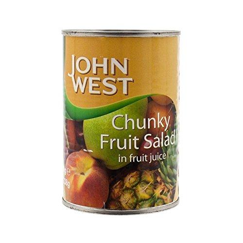 essential Waitrose / John West Tropical Fruit Salad in Light Syrup & Juice 425g - Pack of 4