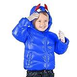 Kids Winter Jacket, children Down Coat, Warm Winter Outwear With Hood For Boys Girls, Blue