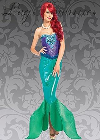 Womens Deluxe estilo de la Sirenita disfraz S (UK 8 – 10): Amazon ...