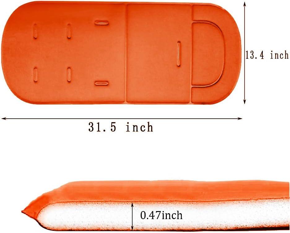 Coussin de si/ège universel confortable pour b/éb/é avec coussin protecteur doreillers pour b/éb/é pour poussettes hautes et coussins de si/ège de voiture Orange Doublure de coussin poussette b/éb/é