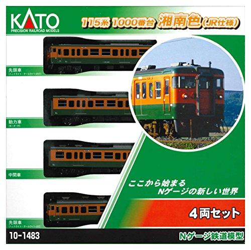 [해외] KATO N게이지 115 계1000카운터 쇼난색 JR사양 4 양세트 10-1483 철도 모형 전철