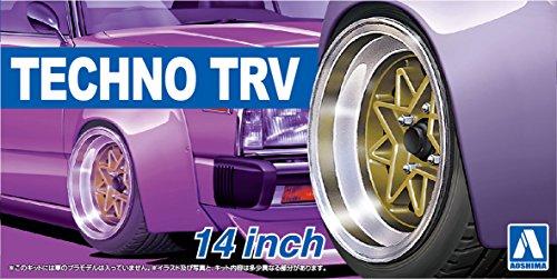 Qingdao culture materials, 1/24 the tuned parts series No.53 techno TRV 14 inch plastic model parts