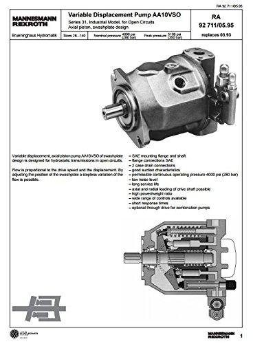 Rexroth Bosch Rexroth Variable Displacement Pump A10VSO, R902401330 [E1FL]