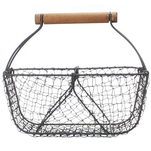 Vintage-Style Wire Shabby Garden Chic Basket Home Decor from Park Hill Collection