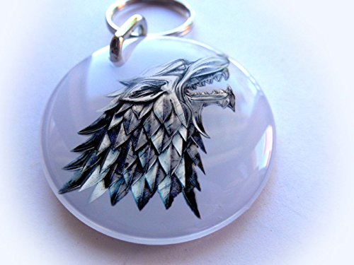 Dog and Cat Customized Pet Id White Game of Thrones Direwolf