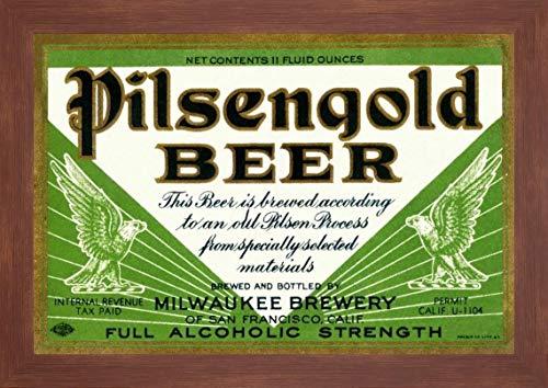 Pilsengold Beer by Vintage Booze Labels - 15