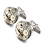 EnjoIt Mens Cufflinks Mechanical Watch Movement Shape Steampunk Cufflinks Gifts for Men 6