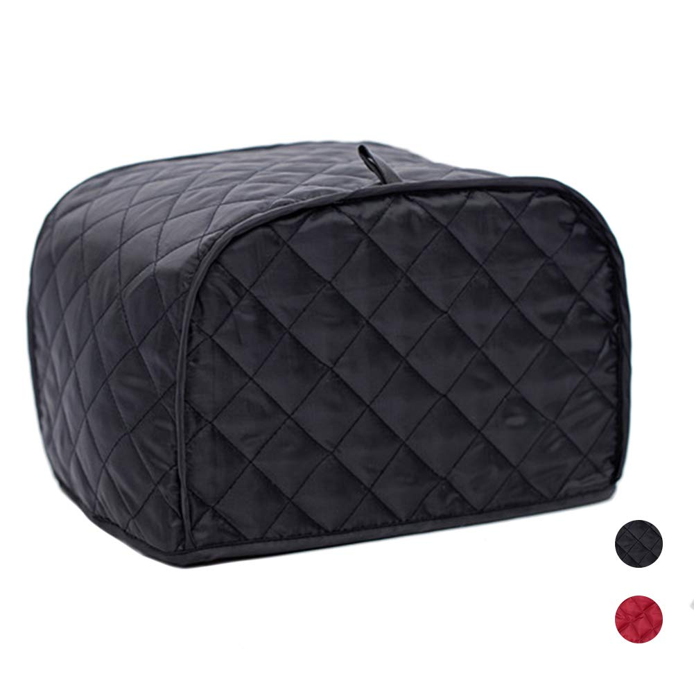 Polyester/Cotton Quilted Toaster Cover, toaster oven/broiler appliances cover, Kitchen Appliance Protection Dust Cover (Black toaster cover, 11.41