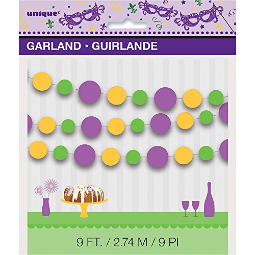 9ft Paper Masquerade Mardi Gras Circle Garland for $<!--$9.94-->