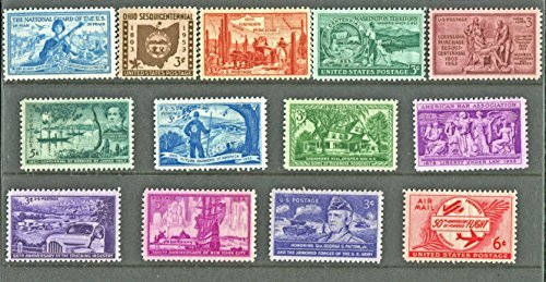 COMPLETE MINT SET OF POSTAGE STAMPS ISSUED IN THE YEAR 1953 BY THE U.S. POST OFFICE - 1953 Mint